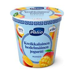 Kreikkalainen hedelmäinen jogurtti mango