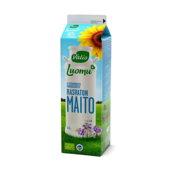 Luomu D-vitaminoitu rasvaton maito