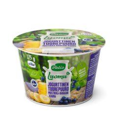 Luomu jogurttinen tuorepuuro mustikka-banaani-kaura laktoositon