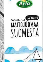 Rasvatonta maitoa Suomesta
