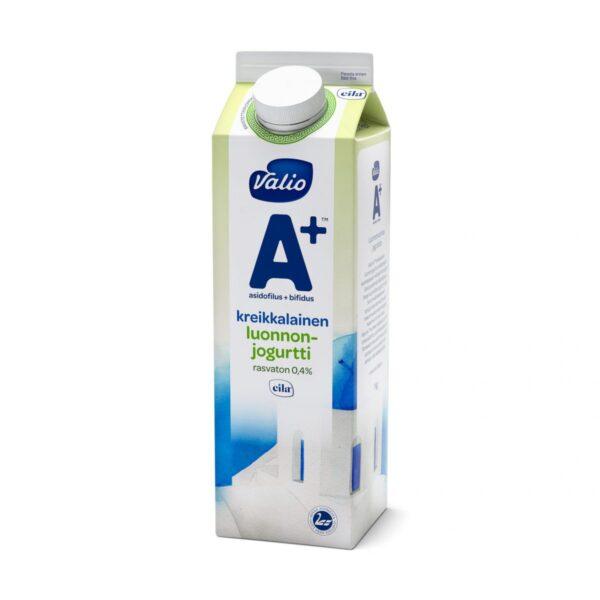 Valio A+ kreikkalainen luonnonjogurtti rasvaton laktoositon