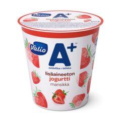 Valio A+ lisäaineeton jogurtti mansikka laktoositon