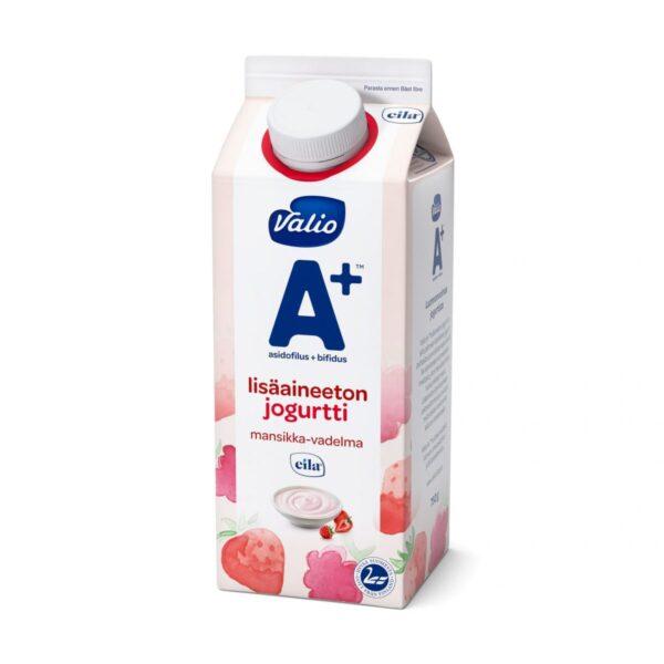 Valio A+ lisäaineeton jogurtti mansikka-vadelma laktoositon