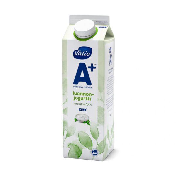 Valio A+ luonnonjogurtti rasvaton HYLA