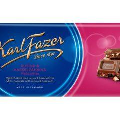 Karl Fazer Rusinoita & hasselpähkinää ja maitosuklaata 200 g