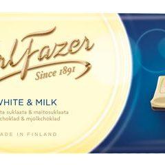 Karl Fazer Valkoista suklaata ja maitosuklaata 100 g